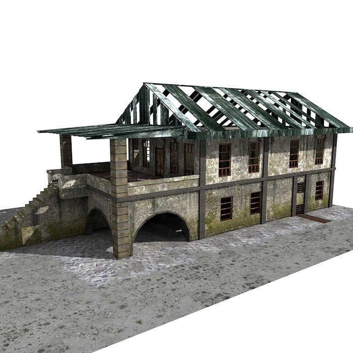 building abandoned 3d 3ds