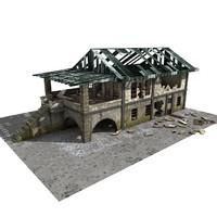 3d building abandoned model