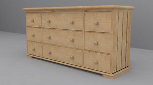 ikea hurdal chest 9 3d model