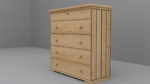 ikea hurdal chest 5 3d 3ds