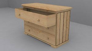 3d ikea hurdal chest 3