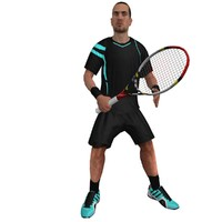 rigged tennis player 3d max