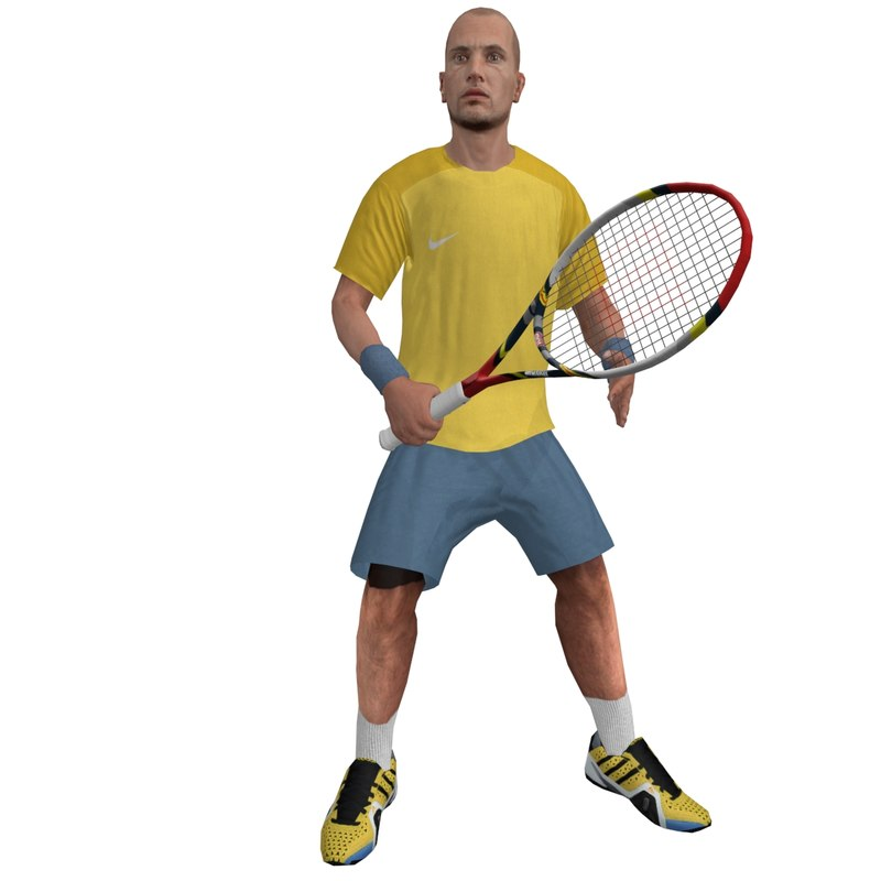 rigged tennis player 2 3d max