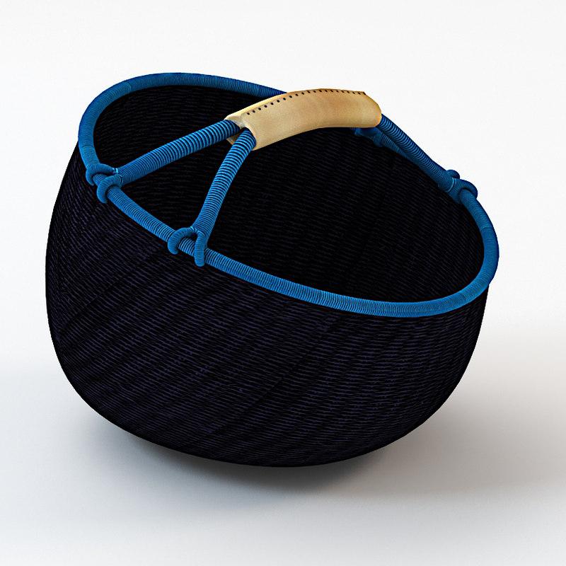 basket wicker handle max