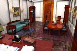 interiors room boss 3d model