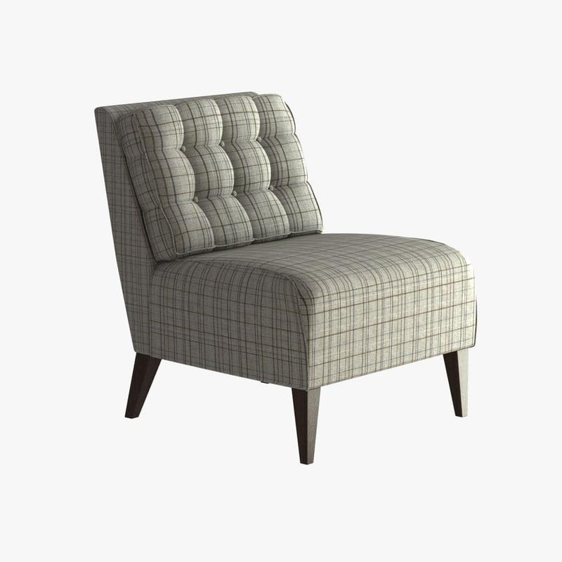 3ds max hampton lounge chair