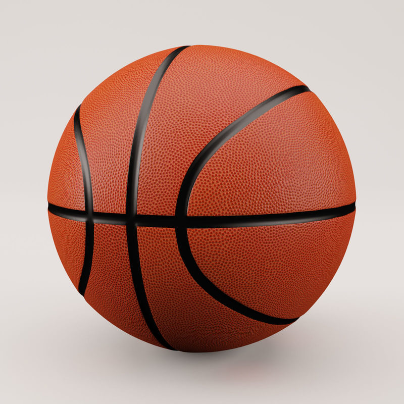3d model basketball classic style