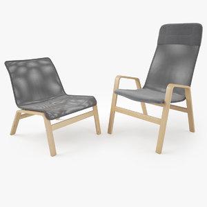 3d ikea nolbyn nolmyra armchair model