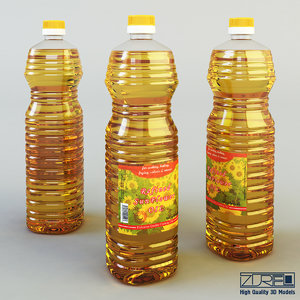 3d oil bottle 2 liter model