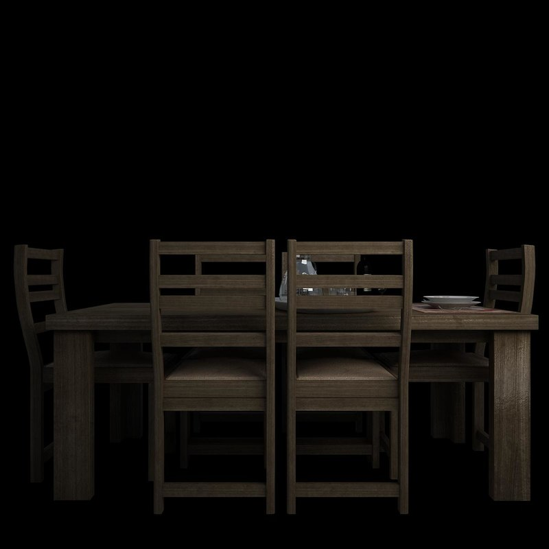 3d dining table accessories
