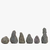 3d model rock set