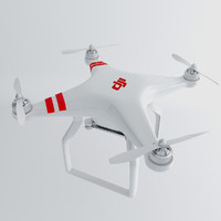3d model phantom drone dji