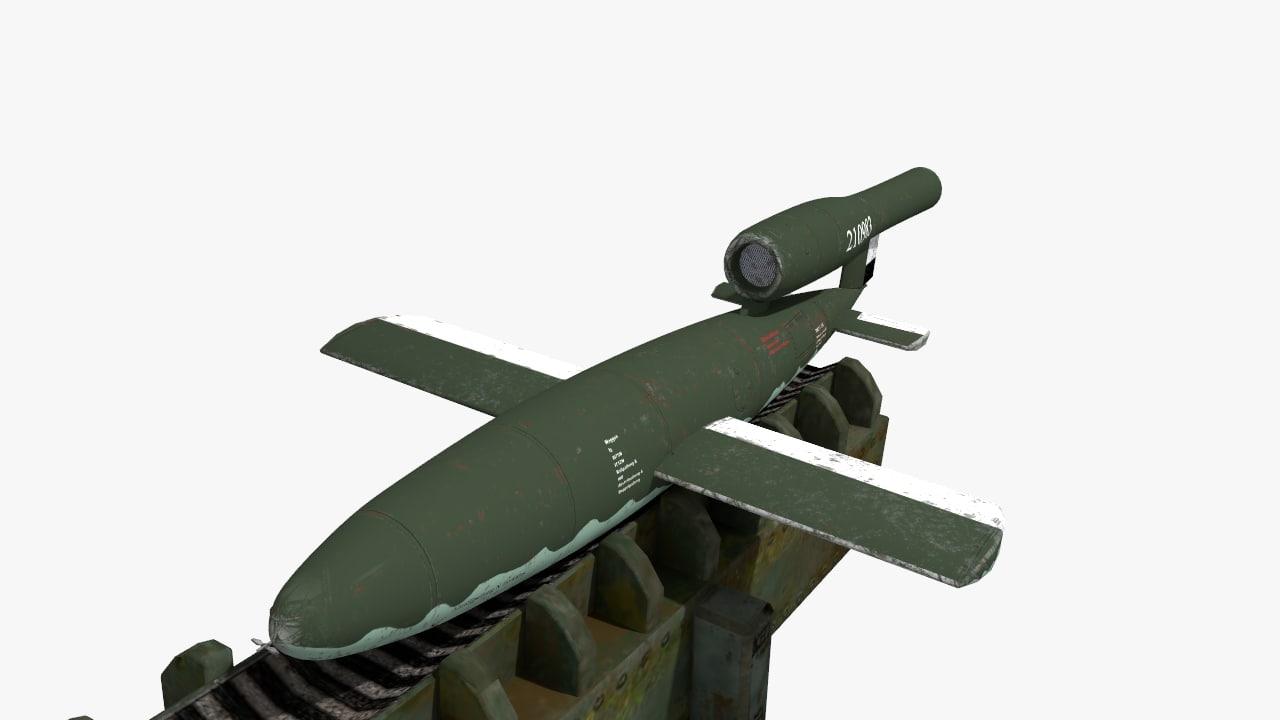 flying bomb 3d model