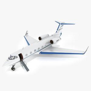 obj aeroplane gulfstream c-20dr private jet
