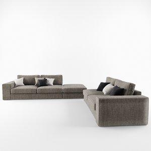 3d model of family sofa