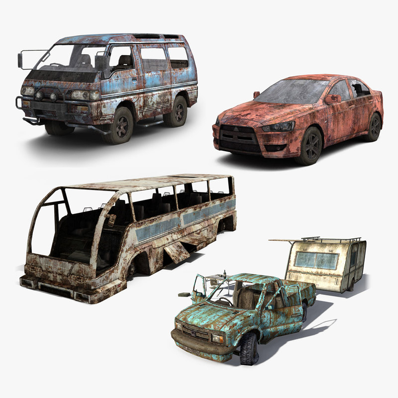 3ds max set wrecked cars
