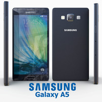 samsung galaxy a5 black 3d model