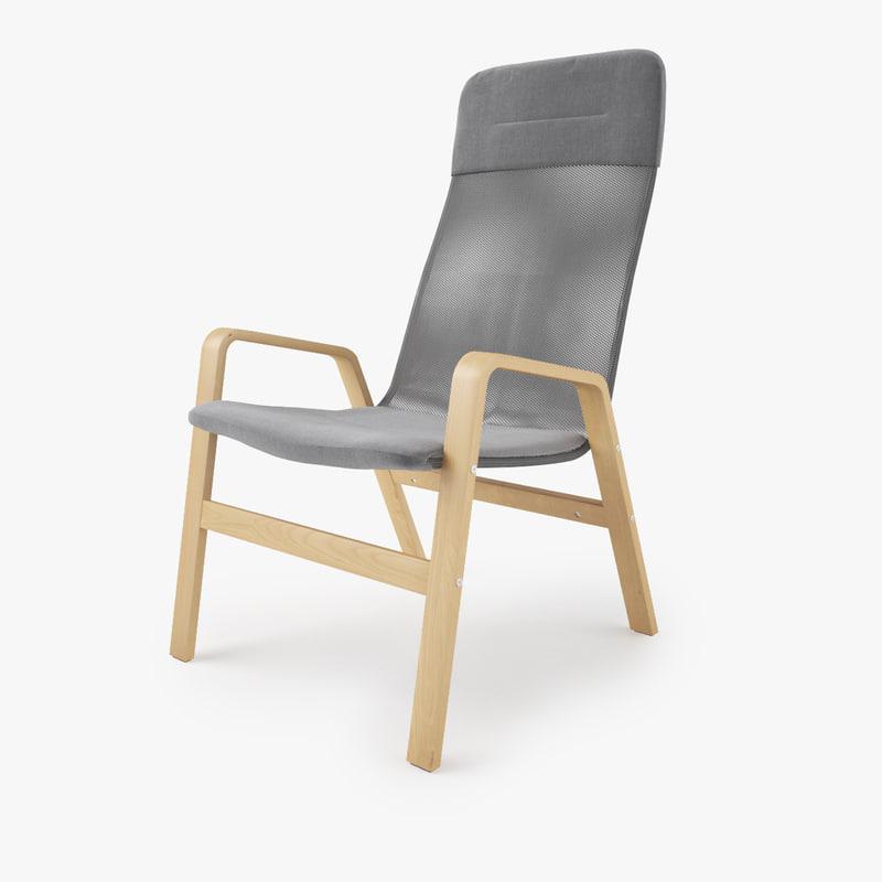 ikea nolbyn armchair 3d obj