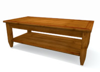maya contemporary brown coffee table