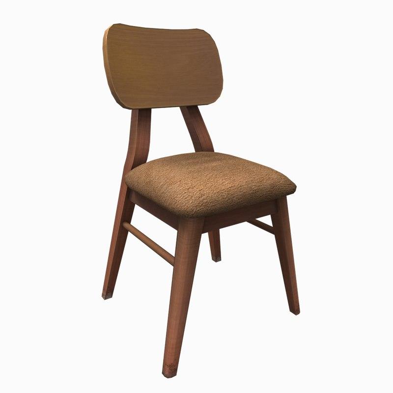 3d japanese chair