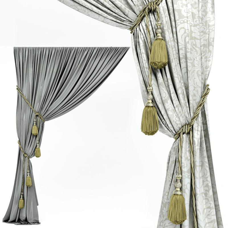 curtains obj