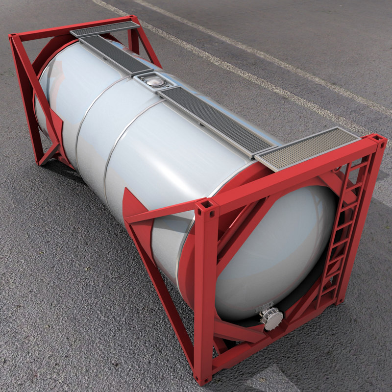 3d model iso tank shipping container