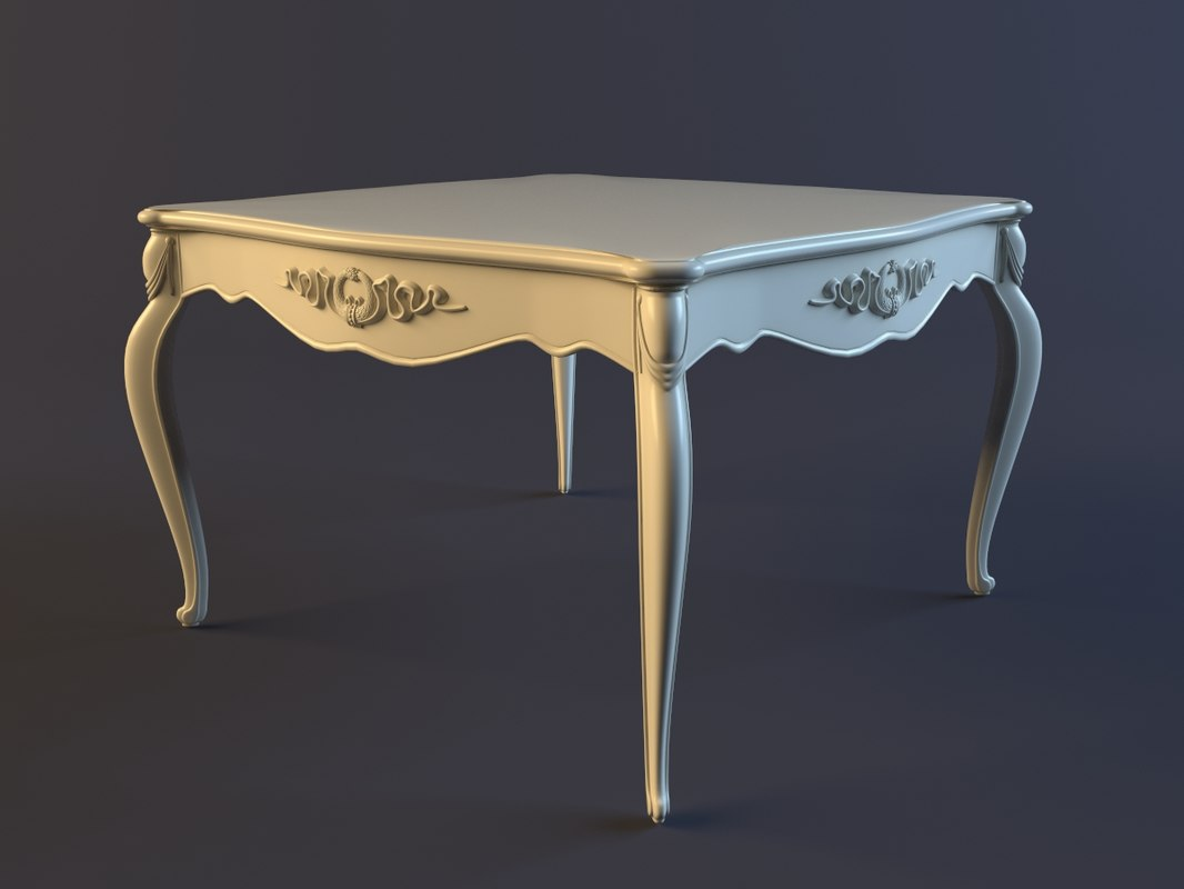 3ds max classic coffee table