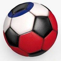 3d soccerball pro ball black model
