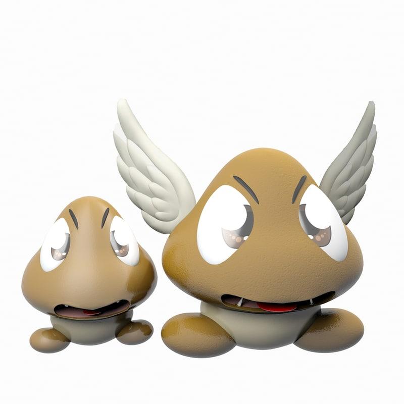 3d model creature goombas