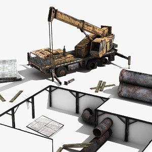 3d crane scene