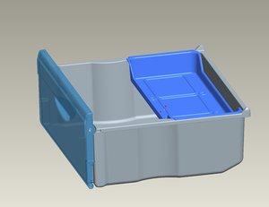 basket fridge-freezer xm-4724 xm-402 3d obj