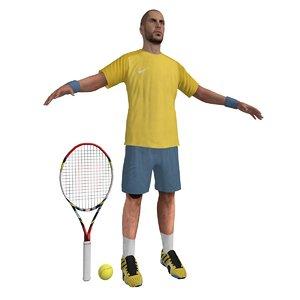 3d tennis player 2