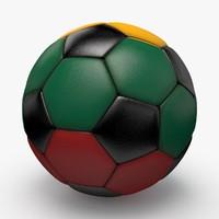 soccerball pro ball black 3d dxf