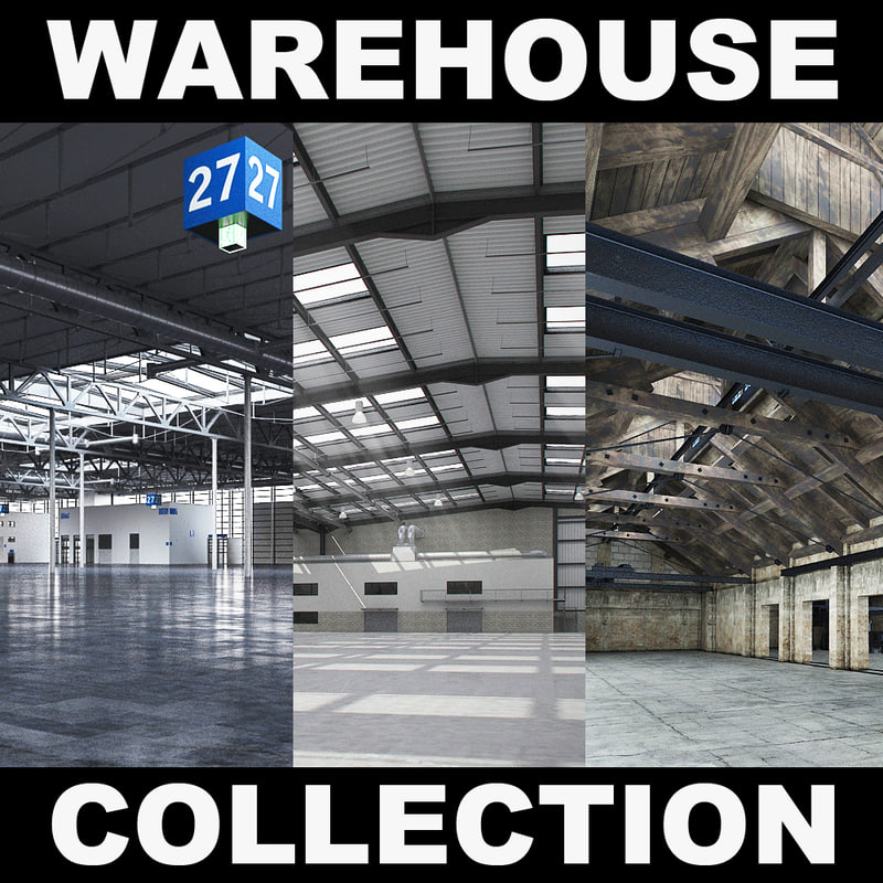 exhibition warehouse 2 3d max