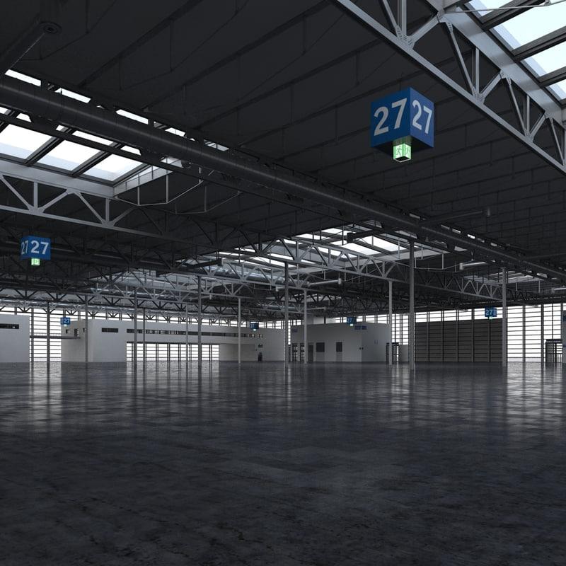 exhibition warehouse 2 3d max