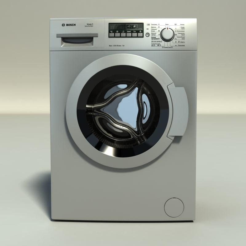 washing machine bosch maxx 3d model