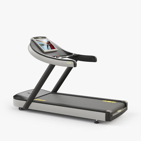 3ds max technogym run treadmill
