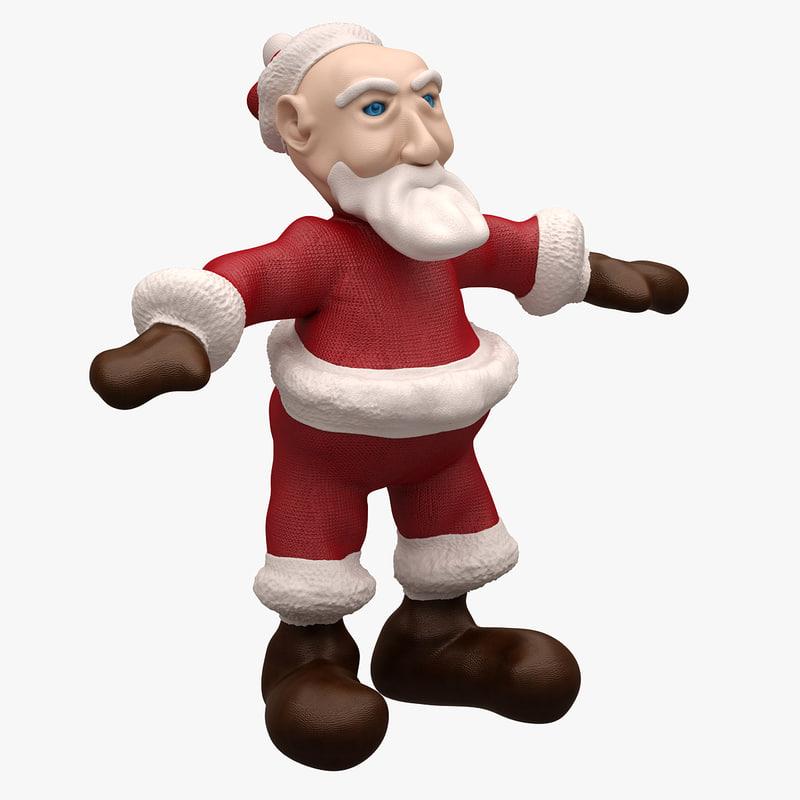 3d santa cartoon character model