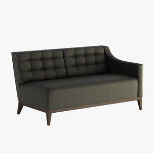 3d model hampton modular sofa