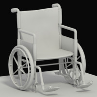3d model of wheelchair hospital
