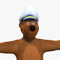 Bear Cartoon Model Rigged