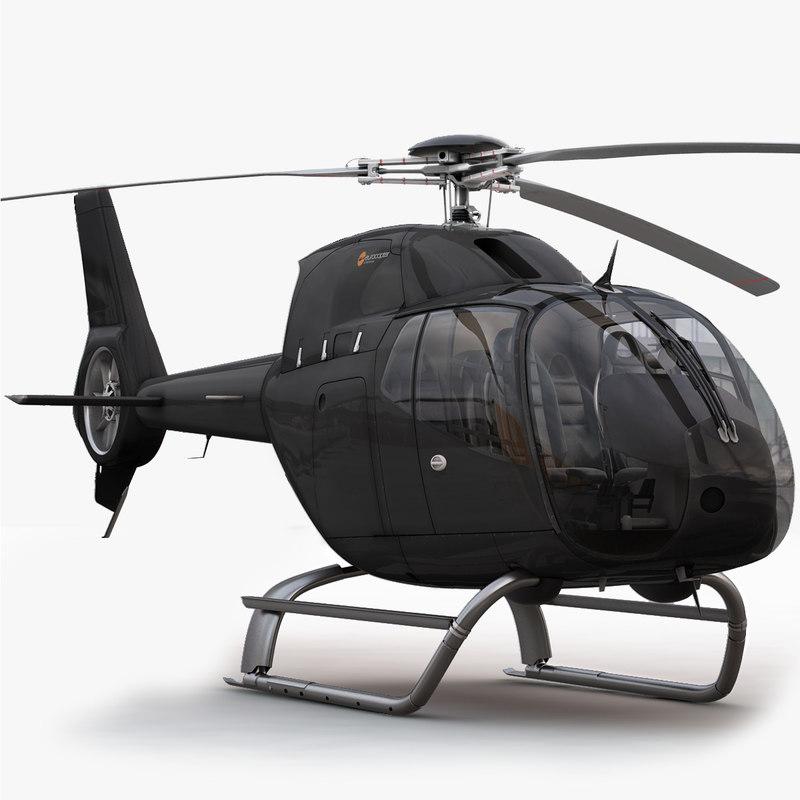 eurocopter ec 120 black 3d max