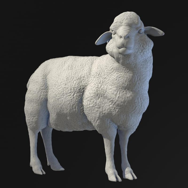 sculpture sheep 3d model
