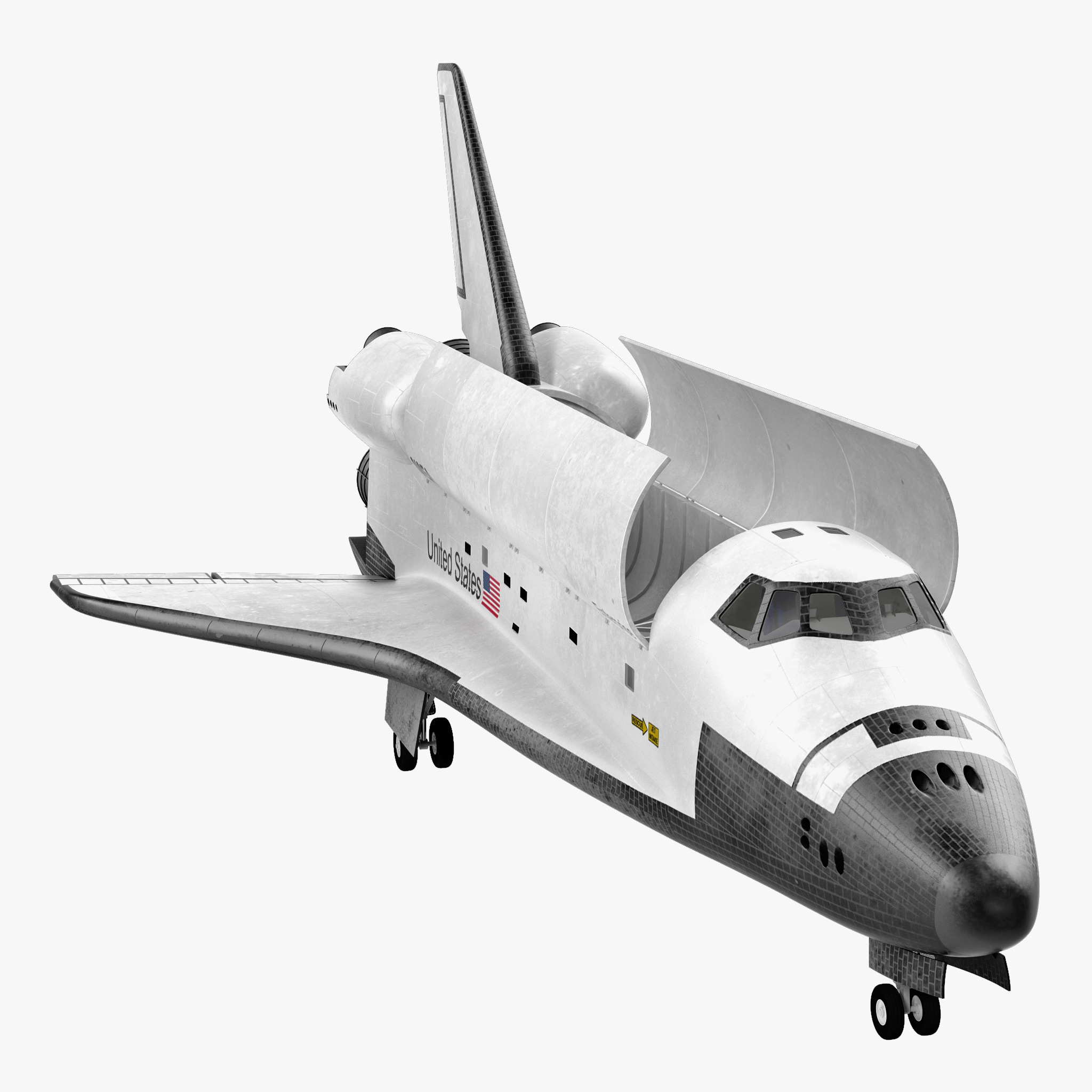 max space shuttle enterprise rigged