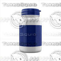 3d supplement bottle model