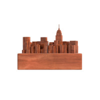 NYC Manhattan Wooden Statue
