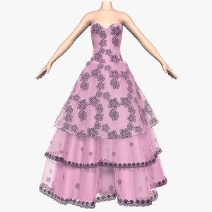 3ds max wedding dress 009
