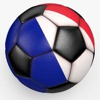 soccerball pro ball black 3d model
