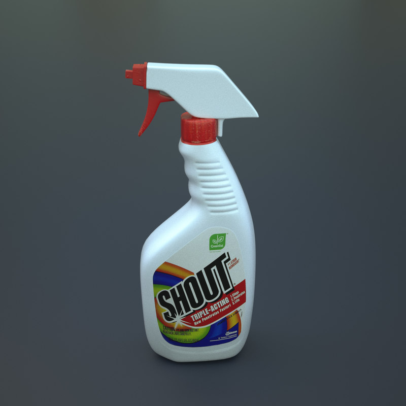 shout spray bottle stain 3d x