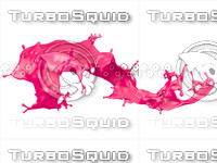 liquid splash 3d model